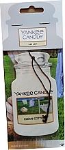 """Perfumería y cosmética Ambientador de coche """"algodón limpio"""" - Yankee Candle Car Jar Clean Cotton"""