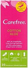 Perfumería y cosmética Salvaslips de algodón con extracto de aloe, 20uds. - Carefree Cotton Aloe