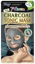 Perfumería y cosmética Mascarilla facial de tejido detoxificante con carbón y extracto de té verde - 7th Heaven Charcoal Tonic Sheet Mask