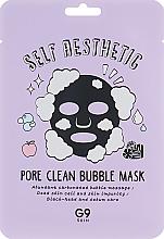 Perfumería y cosmética Mascarilla facial de tejido reductora de poros con carbón de bambú, efecto burbujas - G9Skin Self Aesthetic Poreclean Bubble Mask