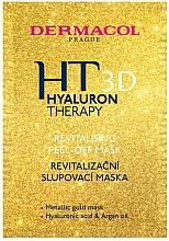 Perfumería y cosmética Mascarilla facial exfoliante y revitalizante con ácido hialurónico y aceite de argán - Dermacol Hyaluron Therapy 3D Revitalising Peel-off Mask