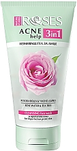 Perfumería y cosmética Gel de limpieza facial antiacné con agua de rosas y aceite de árbol de té - Nature Of Agiva Roses Acne Help 3 In 1 Cleansing Face Wash
