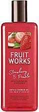 Perfumería y cosmética Gel de ducha, fresa & pomelo - Grace Cole Fruit Works Hand Wash Strawberry & Pomelo
