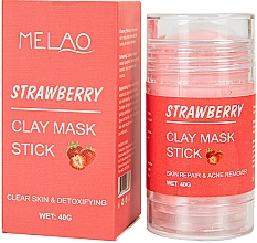 Perfumería y cosmética Mascarilla stick facial detox con arcilla y extracto de fresa - Melao Strawberry Clay Mask Stick