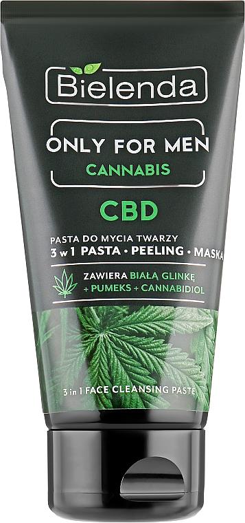 Pasta de limpieza facial con cáñamo - Bielenda Only For Men 3in1 Face Cleansing Paste