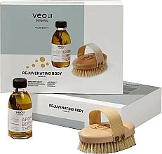 Perfumería y cosmética Veoli Botanica Rejuvenating Body - Set de terapia corporal rejuvenecedora (sérum aceite de masaje/136g + cepillo de masaje)