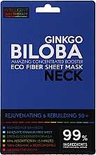 Perfumería y cosmética Mascarilla de tejido para cuello con extracto de ginkgo biloba - Beauty Face IST Rejuvenating & Rebuilding Neck Mask Ginkgo Biloba