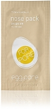 Perfumería y cosmética Tiras limpiadoras de poros con polvo de carbón y extracto de camelia - Tony Moly Egg Pore Nose Pack
