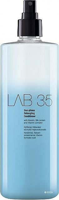 Spray acondicionador bifásico con queratina, proteínas de seda y vitaminas - Kallos Cosmetics Lab 35