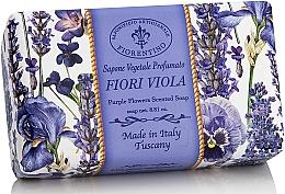 Perfumería y cosmética Jabón vegetal artesano con aroma a lavanda y violeta - Saponificio Artigianale Fiorentino Purple Flowers Scented Soap