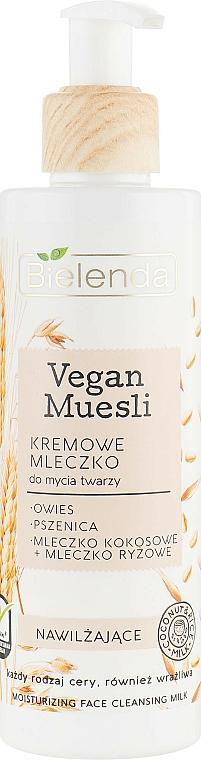 Leche limpiadora facial de avena trigo y leche de arroz - Bielenda Vegan Muesli Moisturizing Face Cleaning Milk