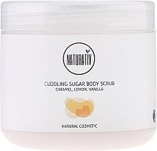 Perfumería y cosmética Exfoliante corporal de azúcar con aceite de almendras dulces, aroma a caramelo, limón & vainilla - Naturativ Cuddling Body Sugar Scrub