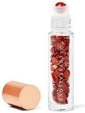 Perfumería y cosmética Frasco roll-on con cristal de jaspe rojo, 10ml - Crystallove