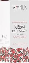 Perfumería y cosmética Crema facial con extracto de trébol rojo para piel seca - Vianek