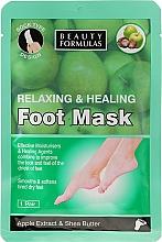 Perfumería y cosmética Mascarilla para pies con extracto de manzana y manteca de karité - Beauty Formulas Relaxing And Healing Foot Mask