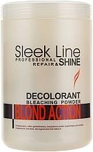 Perfumería y cosmética Decolorante de cabello microgranulado 3-7 niveles, sin polvo - Stapiz Sleek Line Repair & Shine Blond Action