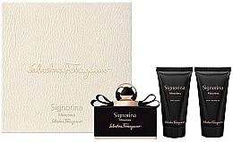 Perfumería y cosmética Salvatore Ferragamo Signorina Misterioasa - Set (eau de parfum/50ml + loción corporal/50ml + gel de ducha/50ml)