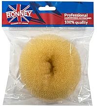 Perfumería y cosmética Esponja de moño, 11x4.5 cm, beige - Ronney Professional Hair Bun