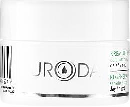 Perfumería y cosmética Crema facial reparadora con glicerina, alantoína y pantenol - Uroda Regenerating Face Cream For Sensitive Skin