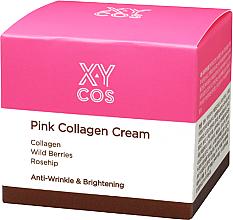 Perfumería y cosmética Crema facial antiarrugas con colágeno, frutos del bosque y rosa mosqueta - XYcos Pink Collagen Cream