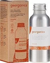Perfumería y cosmética Enjuague bucal con aceite de coco virgen y sabor a naranja - Georganics Red Mandarin Mouthwash