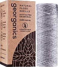 Perfumería y cosmética Hilo dental con carbón activado (recarga) 2x50 m - Georganics Natural Charcoal Dental Floss