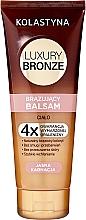 Perfumería y cosmética Bálsamo corporal autobronceador para pieles claras con manteca de karité - Kolastyna Luxury Bronze Balm