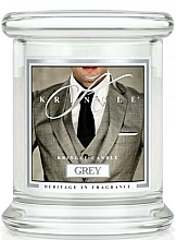 Perfumería y cosmética Vela en tarro con aroma a pachulí & vainilla - Kringle Candle Grey