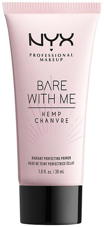 Base de maquillaje con aceite de semilla de cáñamo - NYX Professional Makeup Bare With Me Hemp Radiant Perfecting Primer