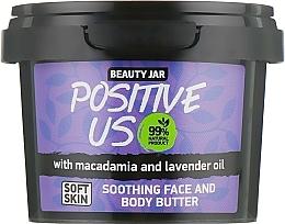 Perfumería y cosmética Manteca para rostro y cuerpo con aceite de macadamia y lavanda - Beauty Jar Soothing Face And Body Butter