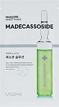 Perfumería y cosmética Mascarilla facial hipoalergénica de tejido revitalizante con madecassoide - Missha Mascure Rescue Solution Sheet Mask Madecassoside
