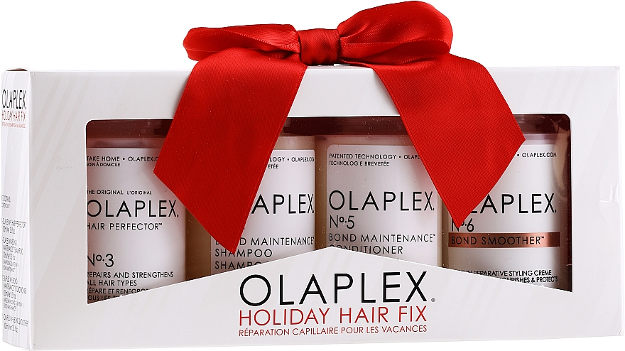 Set para cabello (acondicionador/100ml+ champú/100ml+ crema/100ml+ sérum/100ml) - Olaplex Holiday Hair Fix