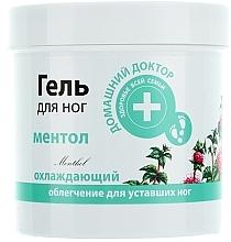 Perfumería y cosmética Gel hidratante para pies con mentol - Médico casero