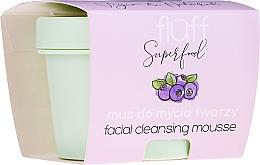 Perfumería y cosmética Mousse de limpieza facial, arándanos - Fluff Facial Cleansing Mousse Wild Blueberry
