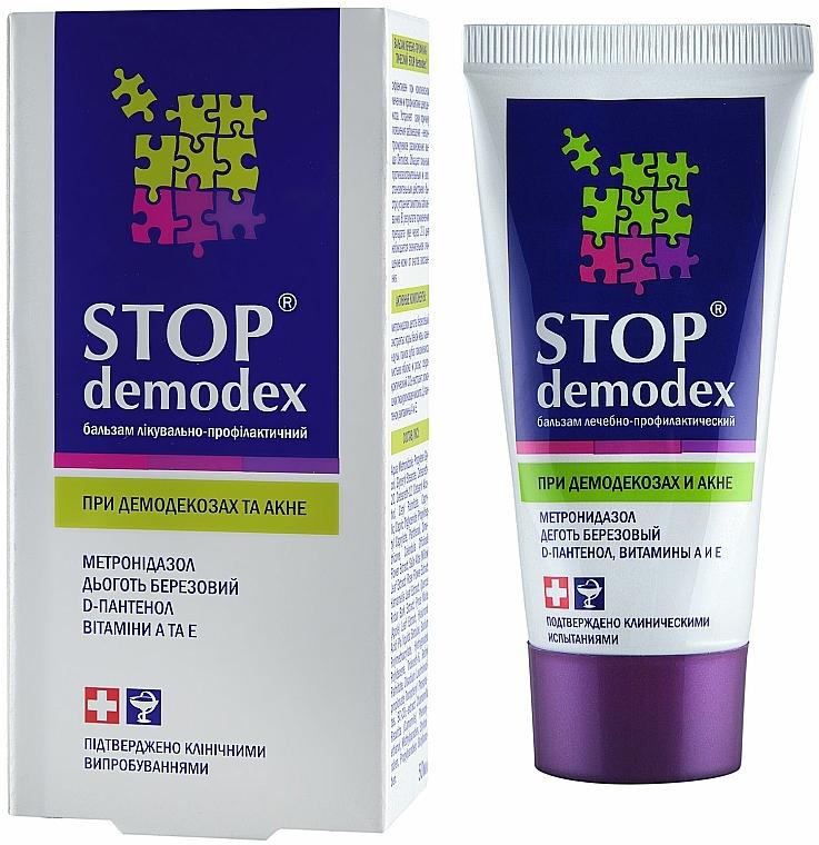 Bálsamo para el tratamiento del acné y de la demodicosis con vitaminas A, E y D-pantenol - FitoBioTecnología Stop Demodex