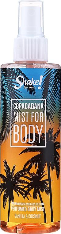 Shake for Body Perfumed Body Mist Copacabana Vanilla & Coconut - Bruma corporal con aroma a vainilla y coco