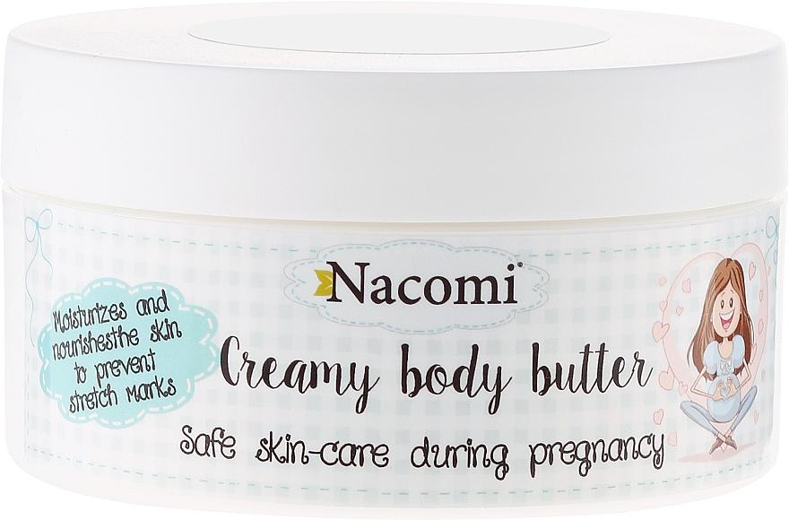Manteca corporal antiestrías con karité, aceite de almendras e inca inchi - Nacomi Pregnant Care Creamy Body Butter