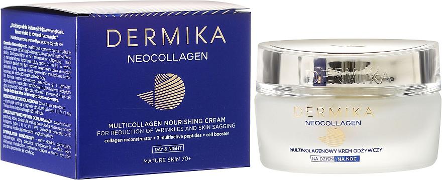 Crema nutritiva facial con aceite de macadamia & extracto de alga - Dermika Neocollagen Cream +70 — imagen N1