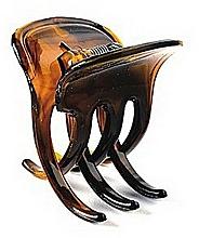 Perfumería y cosmética Pinza de pelo, FA-5803, marrón transparente - Donegal
