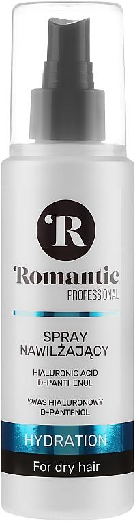Spray de cabello hidratante con ácido hialurónico + D-pantenol - Romantic Professional