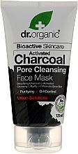 Perfumería y cosmética Mascarilla facial con carbón activo, espirulina y plata coloidal - Dr. Organic Bioactive Skincare Activated Charcoal Pore Cleansing Face Mask