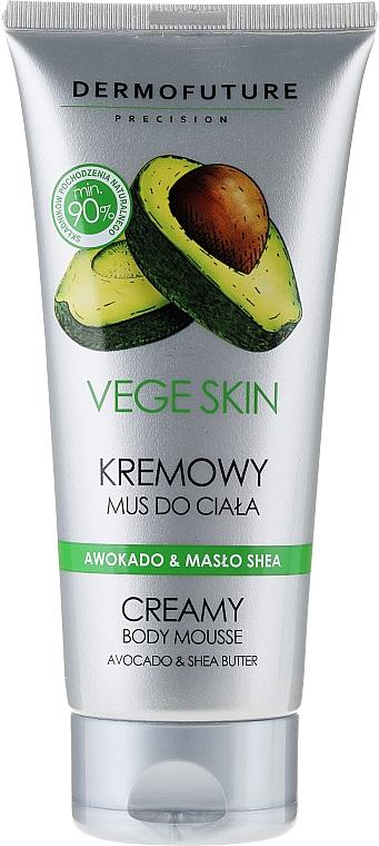 Crema corporal de aguacate y manteca de karité - DermoFuture Vege Skin Creamy Body Mousse Avocado & Shea Butter