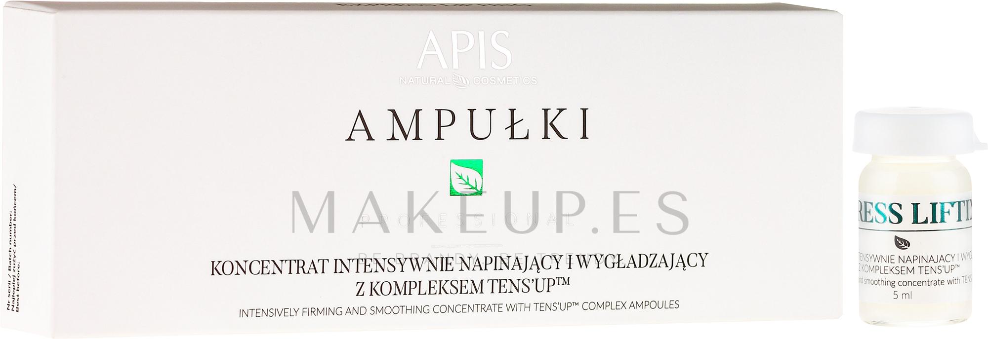 Concentrado facial hidratante con colágeno, ácido hialurónico, ceramidas y aceite de macadamia - APIS Professional Concentrate Ampule Ten's Up — imagen 5 x 5 ml