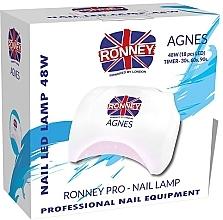 Perfumería y cosmética Lámpara LED para manicura, blanco - Ronney Profesional Agnes Pro LED 48W (GY-LED-032)