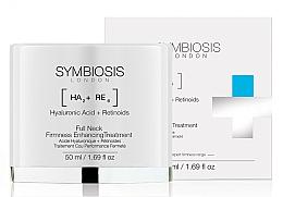 Perfumería y cosmética Crema reafirmante de cuello y contorno facial con ácido hialurónico y retinoides - Symbiosis London Full Neck Firmness Enhancing Treatment