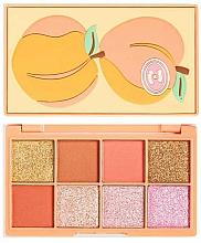 Perfumería y cosmética Paleta de sombra de ojos melocotón - I Heart Revolution Mini Tasty Peach Eyeshadow Palette