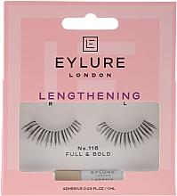 Perfumería y cosmética Pestañas postizas con pegamento incluido - Eylure Lengthening False Eyelashes No.116