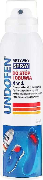 Spray activo para pies y calzado 4 en 1 con extracto de salvia - Undofen Active Foot Spray 4in1
