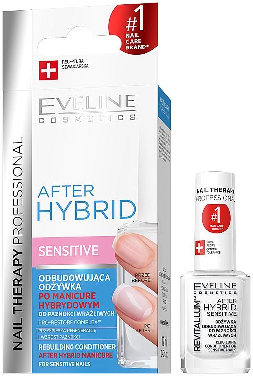 Acondicionador para uñas sensibles después de manicura híbrida - Eveline Cosmetics After Hybrid Rebuilding Conditioner