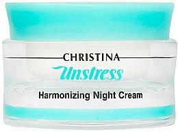 Perfumería y cosmética Crema facial con ácido hialurónico, retinol, ceramidas, manteca de karité y extracto de pepino - Christina Unstress Harmonizing Night Cream